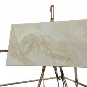 Extreme Artist paints Mont Blanc